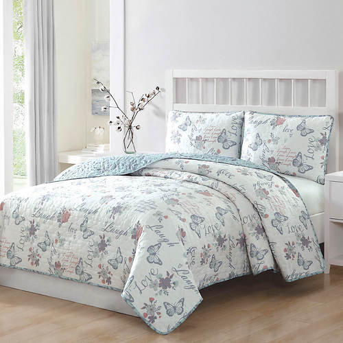 Live Laugh Love 3-Pc. Reversible Quilt Set