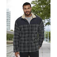 Men's Plaid Sherpa-Lined Jacket