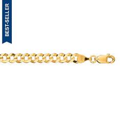 """10K 8"""" Comfort Curb Bracelet (Men's)"""