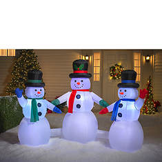 8' Snowman Trio with Music and Lights
