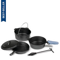 Stansport Pre-Seasoned Cast Iron Cook Set