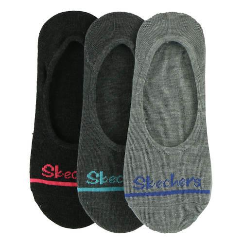 Skechers Women's S112091 Liner 3-Pack Socks