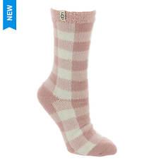 UGG® Vanna Check Fleece-Lined Sock