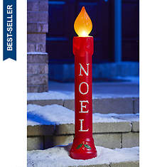 """39"""" Lighted Noel Candle"""