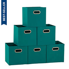 6-Pack Open Fabric Storage Bins