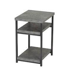 Slate Faux Concrete Low Side Table