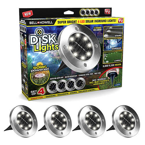 Bell + Howell 4-Pack LED Disk Lights
