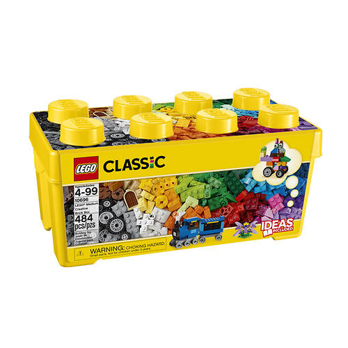 LEGO® Classic 484-Piece Medium Creative Brick Box -- 10696