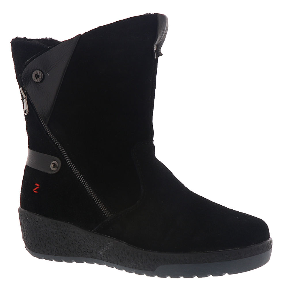 *This cozy boot was built to take on the frozen tundra *Leather upper *Dual side zippers *Shaft can be folded down and secured with snaps when both zippers are opened *Cozy faux fleece lining *Memory foam footbed cushioning *Sturdy rubber sole with traction tread *1\\\