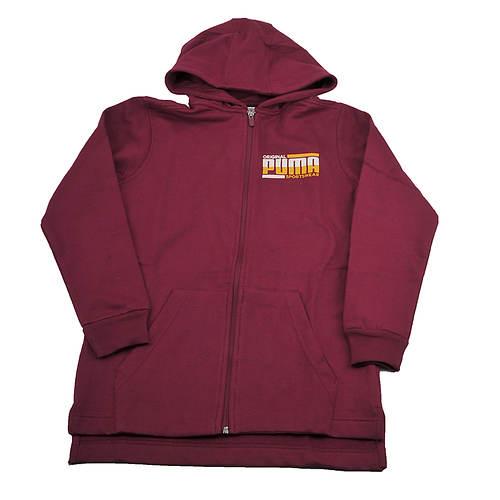 PUMA Boys' Chest Logo FZ Hoodie