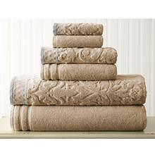 6-Piece Jacquard Towel Set