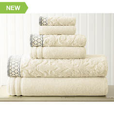 6-Piece Jacquard Towel Set