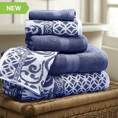 6-Piece Trefoil Filigree Towel Set