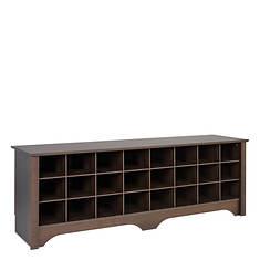 "60"" Shoe Storage Cubbie Bench"