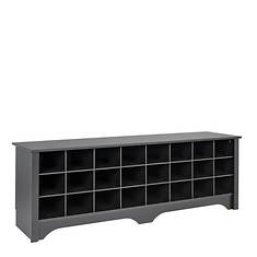 "60"" Shoe Storage Cubbie Bench"