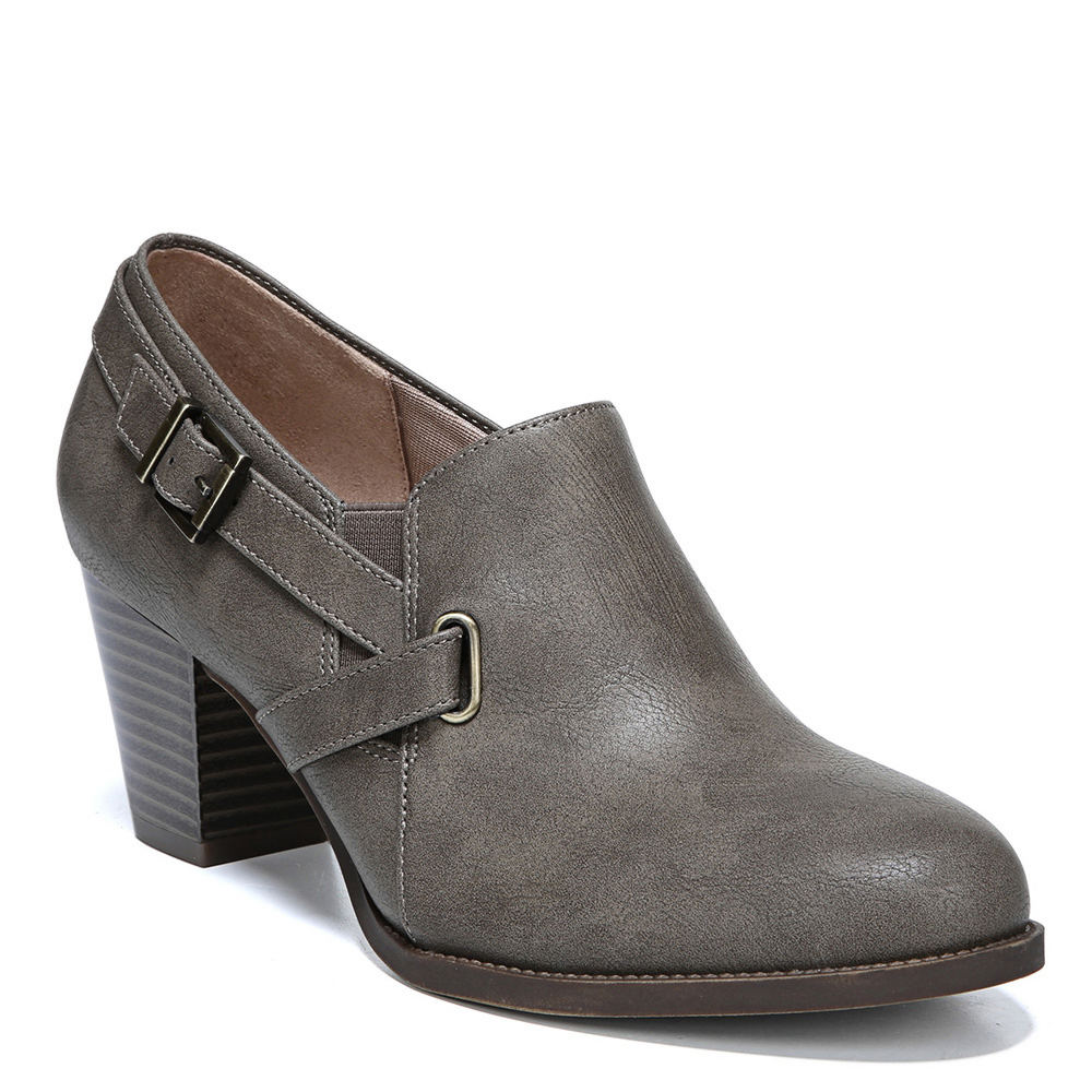 *This low-rise bootie gives new meaning to boot season *Synthetic upper with buckle detailing *Zipper closure *Soft System® insole *2-3/8\\\