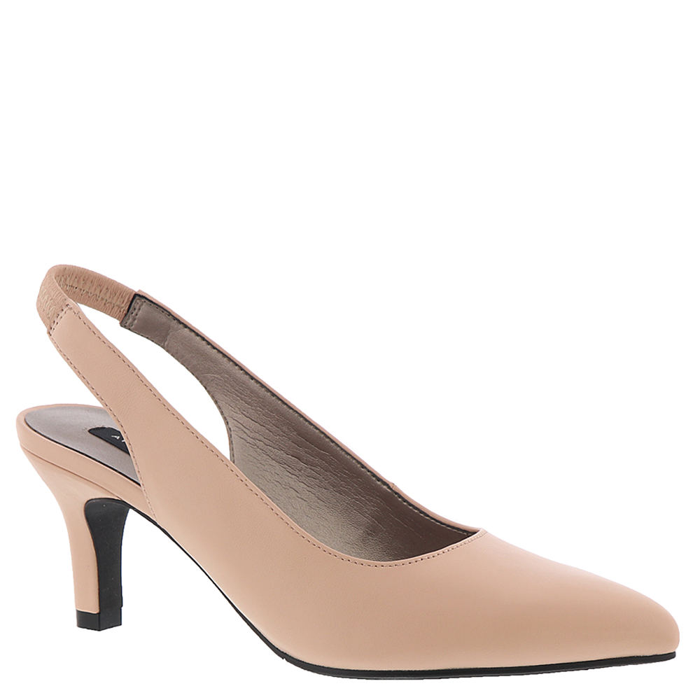 *When it comes to wardrobe staples nothing beats this chic pump\\\'s fashionable pointed toe and seasonal color palette *Leather upper *Elastic-gored slingback strap *Lightly cushioned footbed *2-1/2\\\