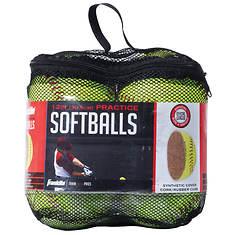 Official League Yellow Softballs 4-Ball Set