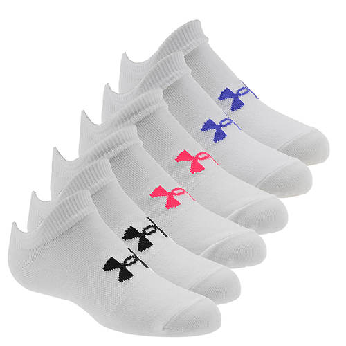 Under Armour Girls' Essential No Show 6-Pack