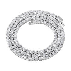 "Women's Bling Master 22"" CZ Necklace"