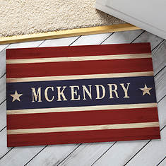 Personalized Stars and Stripes Doormat