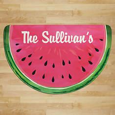 Personalized Watermelon Half Round Doormat