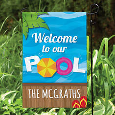 Personalized Welcome To Our Pool Garden Flag