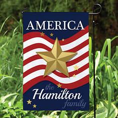 Personalized America Garden Flag