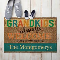 Personalized Grandkids Always Welcome Doormat
