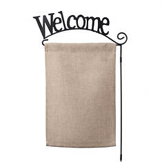 Welcome Wrought Iron Flag Pole