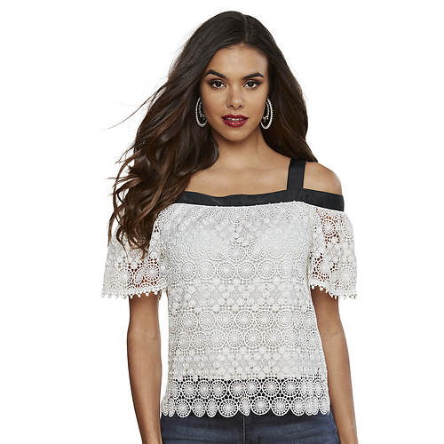 Crocheted Cold Shoulder Top