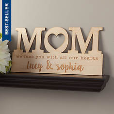 Personalized For Mom Wood Plaque