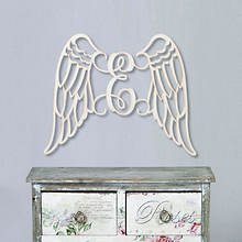Personalized Wings Wood Plaque