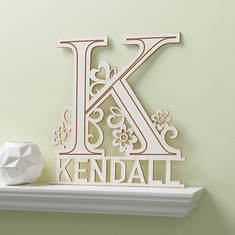 Personalized Floral Wood Plaque