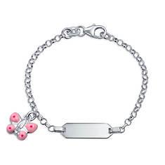 "Personalized Girls' 5"" Sterling Silver ID Bracelet"