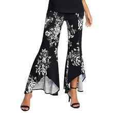 Floral-Print High-Low Pant