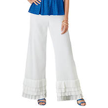 Pleated-Trim Pant