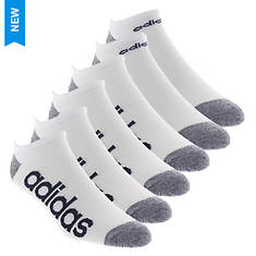 adidas Men's SuperLite Linear 6-Pack No Show Socks