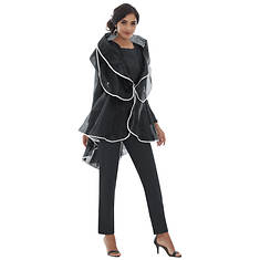 Sheer Jacket Suit Set