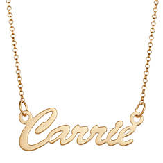 Gold-Plated or Sterling Silver Script Necklace