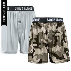 Stacy Adams Men's 2-Pack Boxer Shorts