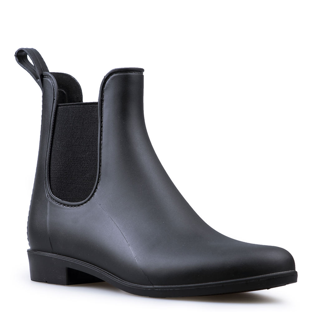 *A matte waterproof finish on a classic chelsea boot silhouette makes sure any rainy day is stylish *Synthetic upper with double elastic gore *Waterproof *Removable memory molded insole *1-1/4\\\
