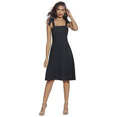 Square-Neck Woven Dress