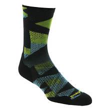 Smartwool Men's PhD Run Light Elite Print Crew Socks