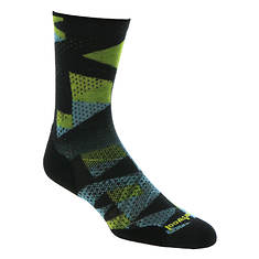 Smartwool Men's PhD Run Light Elite Print Crew Socks