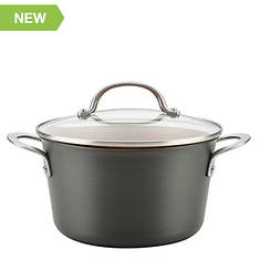 Ayesha Curry 4.5-Quart Hard Anodized Aluminum Covered Saucepan