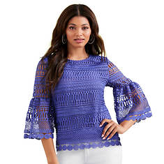 Crochet Bell-Sleeve Top