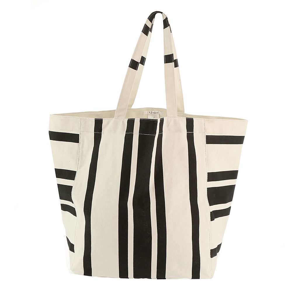 *Whether you\\\'re heading to a tropical locale or hitting the local beach this bag is ready to carry your sunshine essentials in style *Dual carry handles *Cotton material with a stylish striped design *Hand wash *15.5\\\