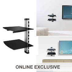 Kocaso 2-Tier Wall-Mount TV Shelf