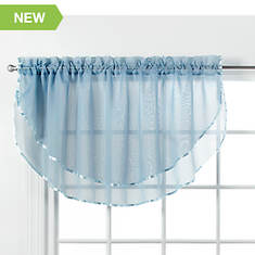 """Elegance Voile 60""""Wx24""""L Layered  Valance"""